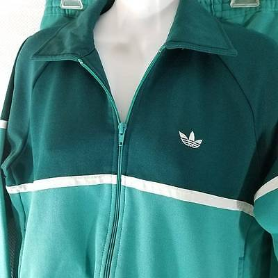 Vtg 80s Small Adidas Trefoil Logo Teal Blue Green Track Suit Jacket Pants