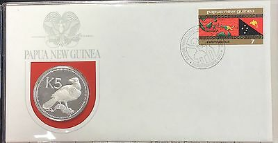 1975 Papua New Guinea first day of issue cachet - k5