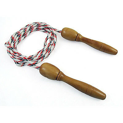 Wooden Handle Skipping Rope Outdoor Toy Children AD