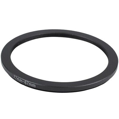 77mm-67mm 77mm to 67mm Step Down Ring Adapter Black for DSLR Camera AD