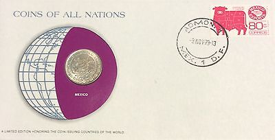 Coins of all nations coin and pnc -Mexico 1979
