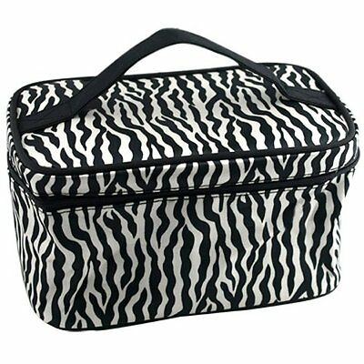 Zebra Pattern Foldable Makeup Cosmetic Hand Case Bag AD