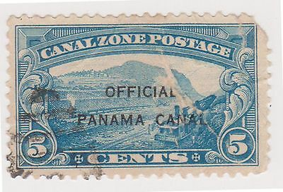 (CZ-46) 1941 Canal Zone 5c Canal under construction O/P Official (space filer)