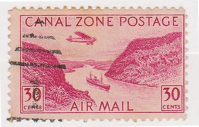 (CZ-40) 1931 Canal Zone 30c red Air mail (E)