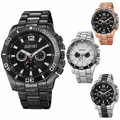 August Steiner AS8113 Men's Swiss Multifunction Day Date Bracelet Watch