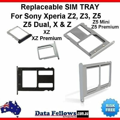 Micro Sim Card Tray Holder For Sony Xperia Z2 Z3 Z5 PREMIUM X DUAL Replaceable