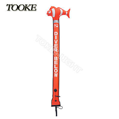 Storm High Visibility Scuba Divers SMB Surface Marker Buoy 6ft 180x15cm