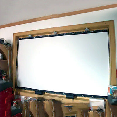 """100"""" 16:9 Foldable Projection Projector Soft Screen HD Movie Cinema Theater"""