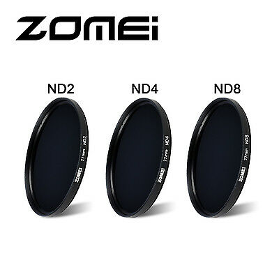 Zomei Neutral Density ND2 ND4 ND8 Kit for Camera DSLR 52/55/58/62/67/72/77/82mm