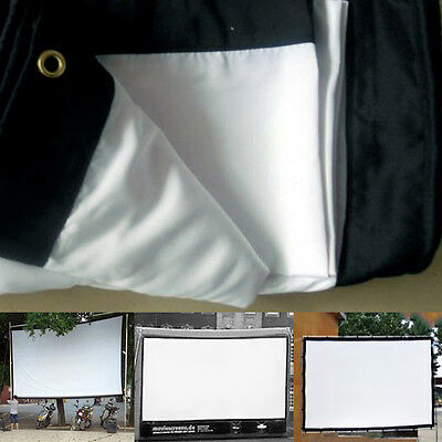 """100"""" 16:9 Foldable Projection Projector Screen HD Movie Cinema Theater Top"""