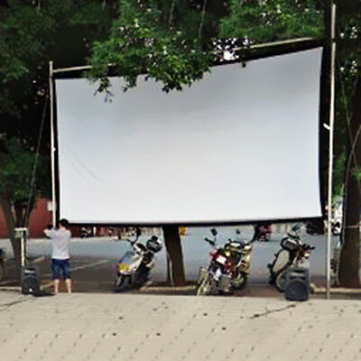 """4:3 100"""" Foldable Projection Projector Screen HD Movie Cinema Theater Free Ship"""