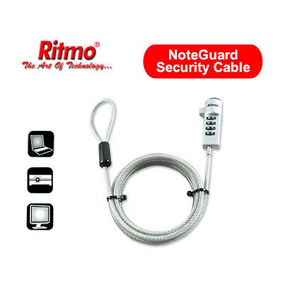 RITMO NoteGuard Heavy Duty Security Cable Laptop Notebook Lock LC-003