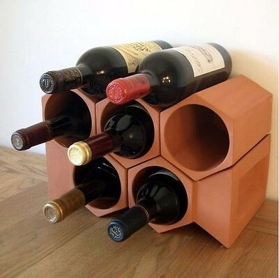 Terracotta 7-bottle Wine Cellar
