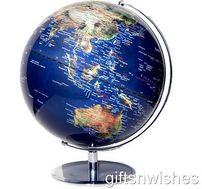 Clear Blue Satelite View Educational World Globe (Various sizes)