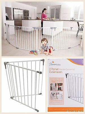 Dreambaby Royale Converta 3in 1 Playpen Portable gate + 2 PANEL EXTENSION WHITE