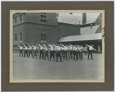 """1912 Men""""s Lunch Time Fitness Group Adelaide Boys High School Grote St Adelaide"""