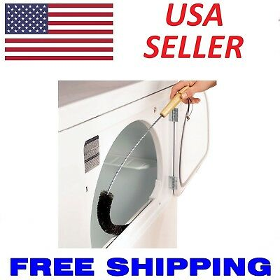 CLOTHES DRYER Lint Vent Trap Cleaner Brush gas electric Fire Prevention Bottle