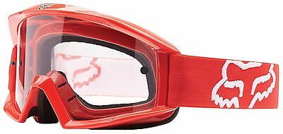 Fox Racing Mx Mens Adults Main Goggles In Red Mx Enduro Motocross Atv Offroad