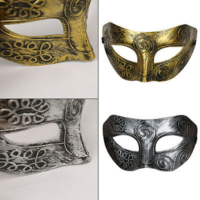 Mens Male Gladiator Masquerade Mask Venetian Style Party/fancy Dress Halloween