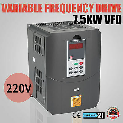 10HP 7.5KW 34A 220V Variable Frequency Drive VFD Inverter Single Phase 3 Speed