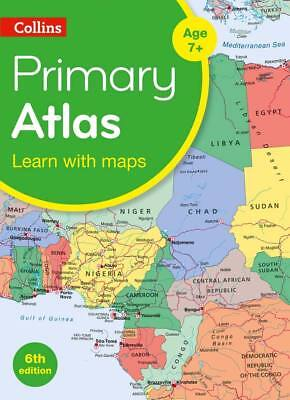 Primary School World Atlas by Collins Maps (World Atlas, Paperback) 2019