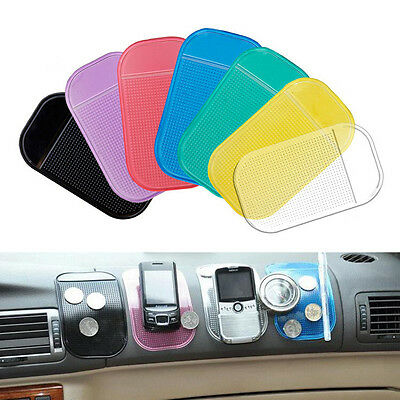 2Pcs Magic Sticky Pad Anti Slip Mat Non Slip Car Dashboard for Phone GPS Keys