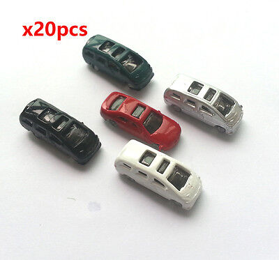 20 x  Model Cars Vehicles 1:200 Z Scale Railway Layout Architecture Toy New