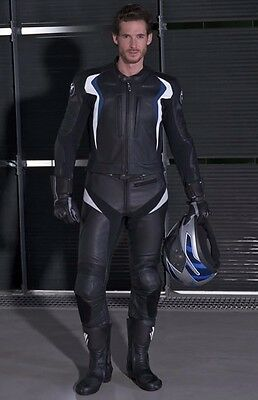 BMW Black Motorcycle Leather Suit Racing Suit Motorbike Leather jacket Trouser