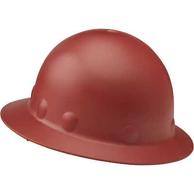 Fibre-Metal Roughneck Full Brim Hard Hat with Ratchet, Red