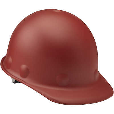 Fibre-Metal Roughneck Cap Style Hard Hat with Swing Strap, Red