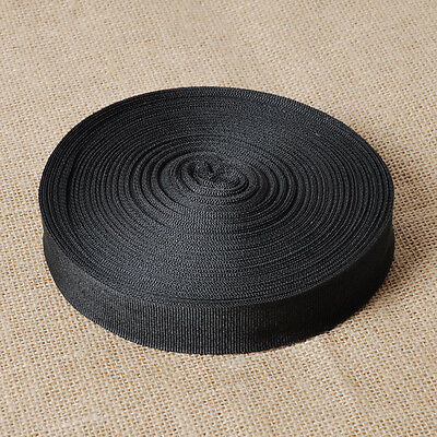 New Black Nylon Strap Webbing Camping Strapping 10 Yards Length 1 inch Width