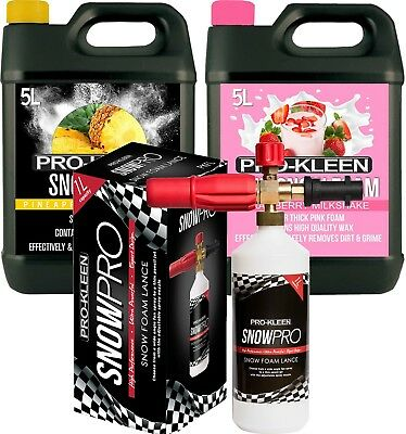 Pro Kleen Car Snow Foam + Jet Lance Car Wash Pre Wash Shampoo Pressure Washer