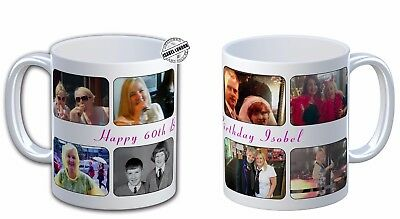 Personalised Photo Collage Mug Montage Cup. Customise with your own photos. 4Dgn