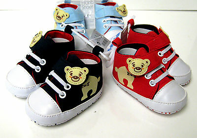 Soft Touch Boys Hi-Top Sneaker Shoes Side Fastening 3 Sizes 3 Colours