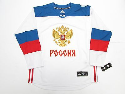 95d22f9deb3 Team Russia White 2016 World Cup Of Hockey Adidas Premier Hockey Jersey