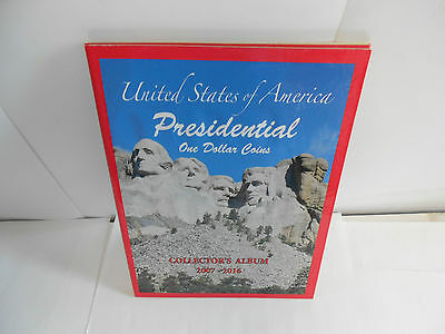 2 Presidential One Dollar Coins Collector's Albums. 2007-2016  N433