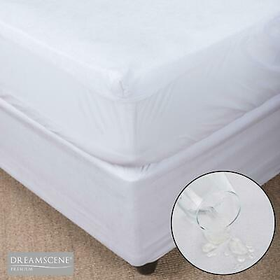 Dreamscene Waterproof Mattress Protector Fitted Terry Towel Wet Bed Cover Sheet
