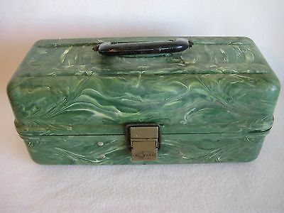VINTAGE PLANO Beachcomber Plastic Swirl MARBLE FISHING TACKLE BOX 4250