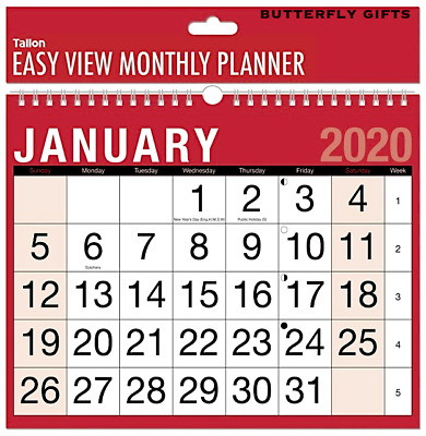 2020 Wall Calendar Calender Large Month to View Planner Easy View Calendar New
