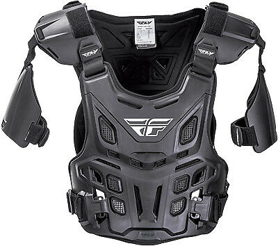 Fly Revel Offroad Black Enduro Offroad Trail Riding Roost Guard Chest Protector