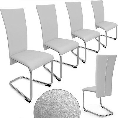 Dinning Chairs Set 4 White Furniture Contemporary Modern Kitchen Seats High Back
