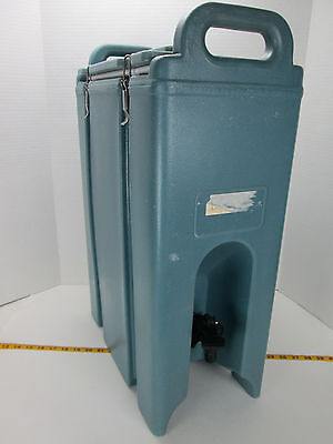 Cambro Insulated Drink Dispenser 500LCD 4.5 Gal Hot/Cold Handles Blue S