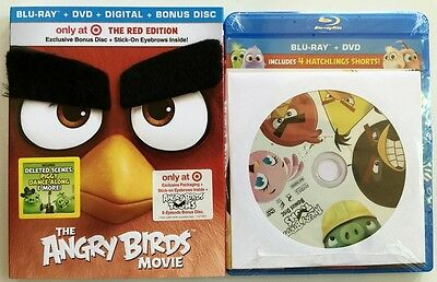 New The Angry Birds Movie Blu Ray Dvd Target Exclusive + Slipcover Bonus Disc