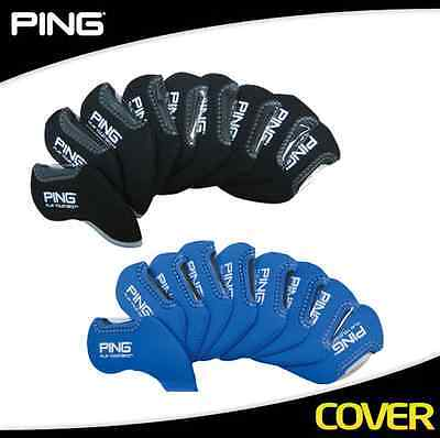 PING Golf Iron Cover 9pc Black Blue Authentic From Korea