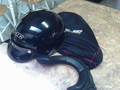 HJC CS-2 Half Shell Metallic Black XS Sunshield DOT Motorcycle Helmet/Bag