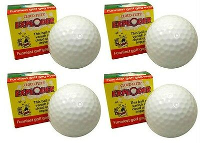 Exploding Golf Ball Four Pack. Delivery is Free