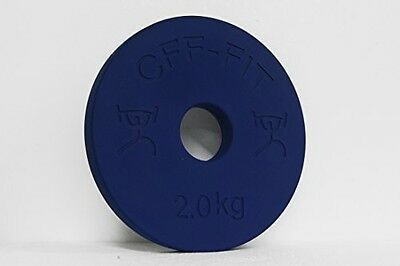 CFF 2 kg Competition Rubber Fractional Weight Plates - Pair
