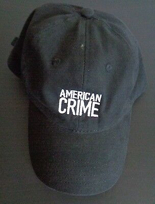 AMERICAN CRIME TV Show PROMO Cast Crew Hat Cap ABC Port & Company FREE SHIPPING