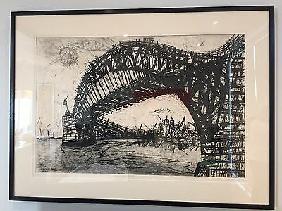 'Bridge From Below' - Marco Luccio - Etching on paper. Framed LIMITED EDITION