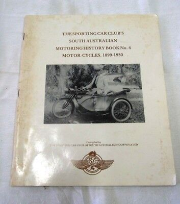 Motor Cycles 1899-1930 The Sporting Car Club's  Book